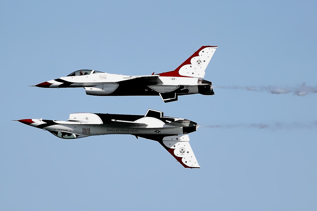 two USAF fighters