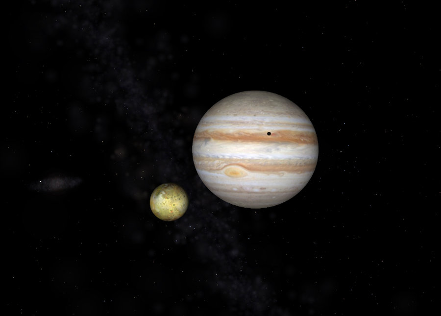 jupiter et io (similation)