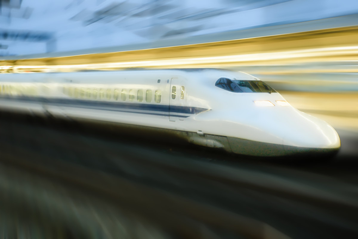 shinkansen in motion
