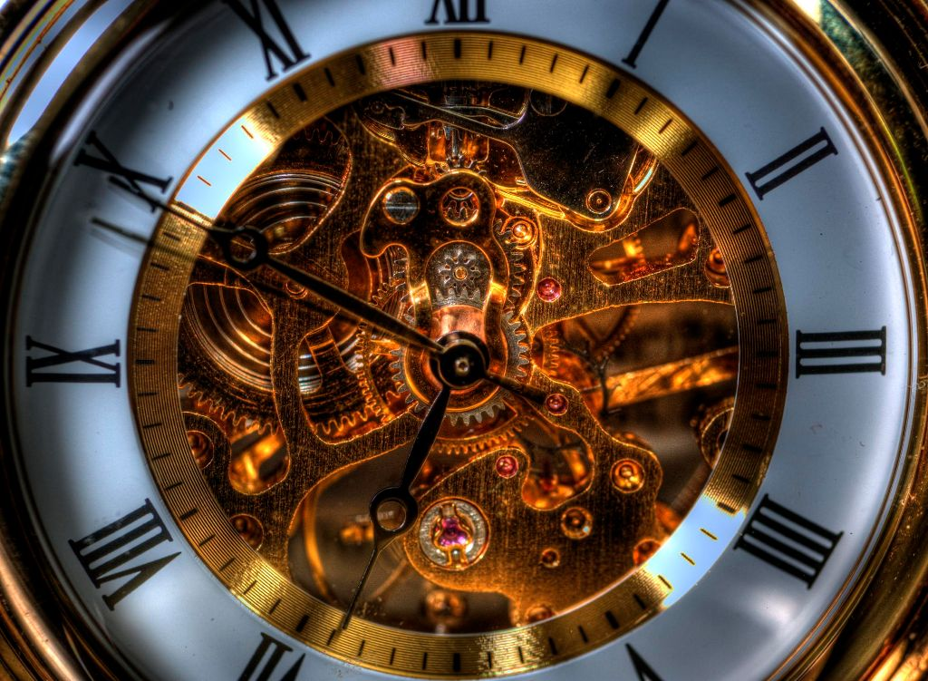 photo of a mechanical watch