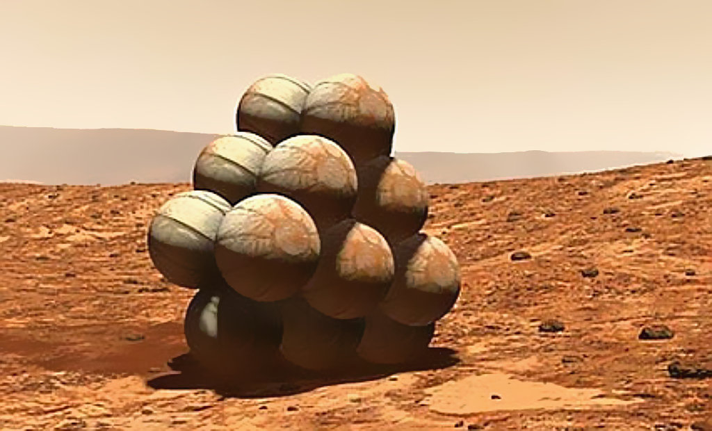 Mars rover landing airbags