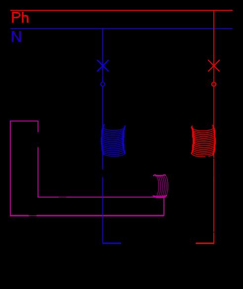 Comment fonctionne un disjoncteur diff rentiel couleur - Difference entre phase et neutre ...