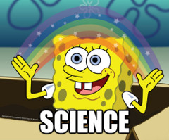 sponge bob science rainbow